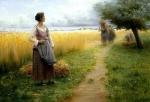 Le retour des champs peinture de Georges Paul François Laurent Laugée.jpg